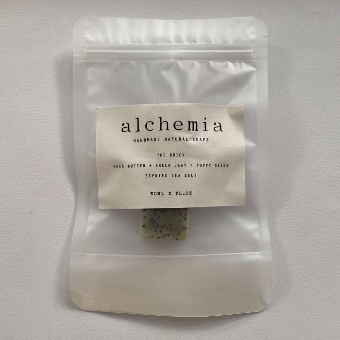 THE BRICK | SHEA BUTTER  + GREEN CLAY + POPPY SEEDS, SCENTED SEA SALT